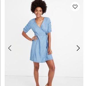 Madewell beautiful chambray wrap dress size s